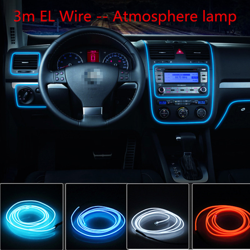 Car styling el products 3m EL Wire Cold Neon Light For lexus gs rx300 rx330 rx350 is200 is250 is300 ls460 gs300(China (Mainland))