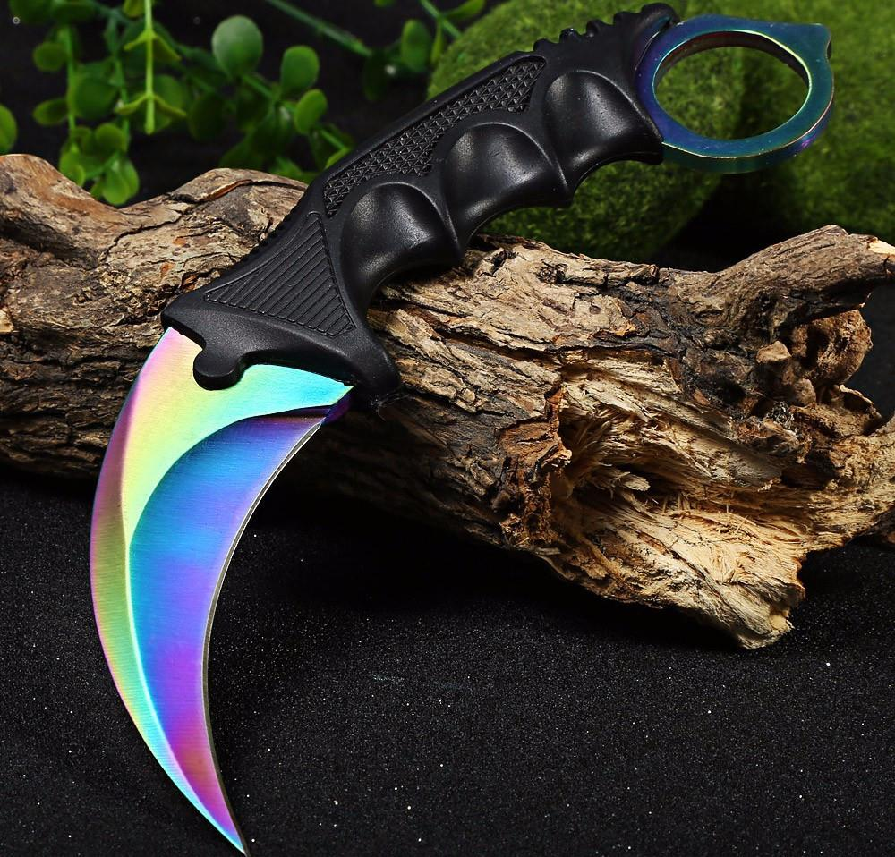 Buy New Arrival CS GO Fade Counter Strike Karambit Handmade Knives Hunting Fighting Tactical Survival Knife Camping Tool Slaughter cheap