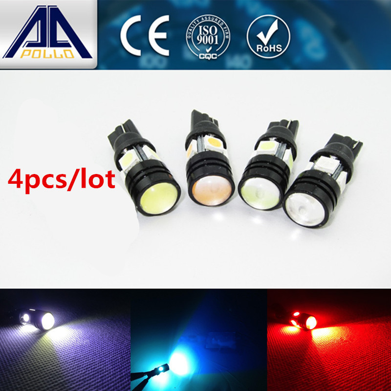 4pcs T10 Cree LED W5W LED Auto Lamp 12V 3W bulbs with Projector Lens Interior License Plate Wedge parking light Car Styling(China (Mainland))