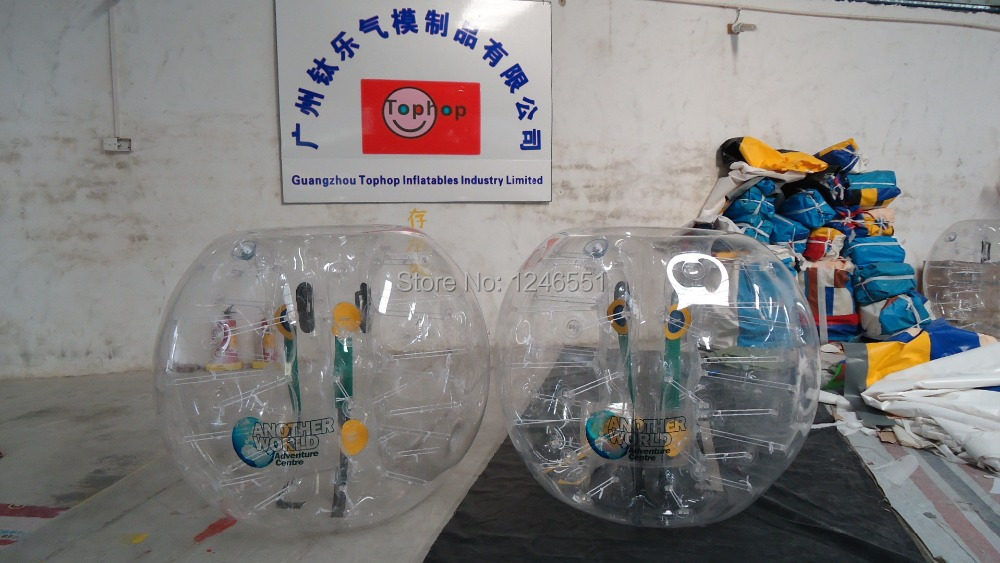2014 Newest PVC 1.2m bumper body,bubble bumper,big soccer ball with clear logo printing Drop Shipping(China (Mainland))