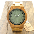 BOBO BIRD B22 Original Bamboo Wood Men s Wristwatch Classic Folding Clasp Quarzt Movement Wrist Watch
