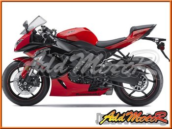 Aftermarket ABS Motorcycle Fairings Body Kit For ZX-6R 09-12 Red Black K6923