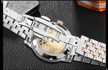 BINKADA High quality men automatic mechanical watch waterproof hollow steel flywheel fashion watches