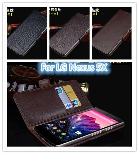 2015 Люкс Крокодил Ретро кожаный бумажник Чехол для LG Nexus с 5-кратным откидная Крышка телефона для Google Nexus5X случае