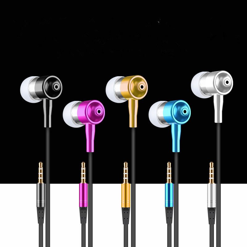 Colourful High quality Earphone 3.5mm Metal headset In-Ear Earbuds For Cellphone MP3 MP4 Earphones(China (Mainland))