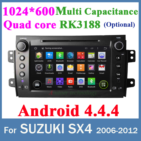 For SUZUKI SX4 Android 4 4 2 din dvd gps Quad core RK3188 cpu 1024 600