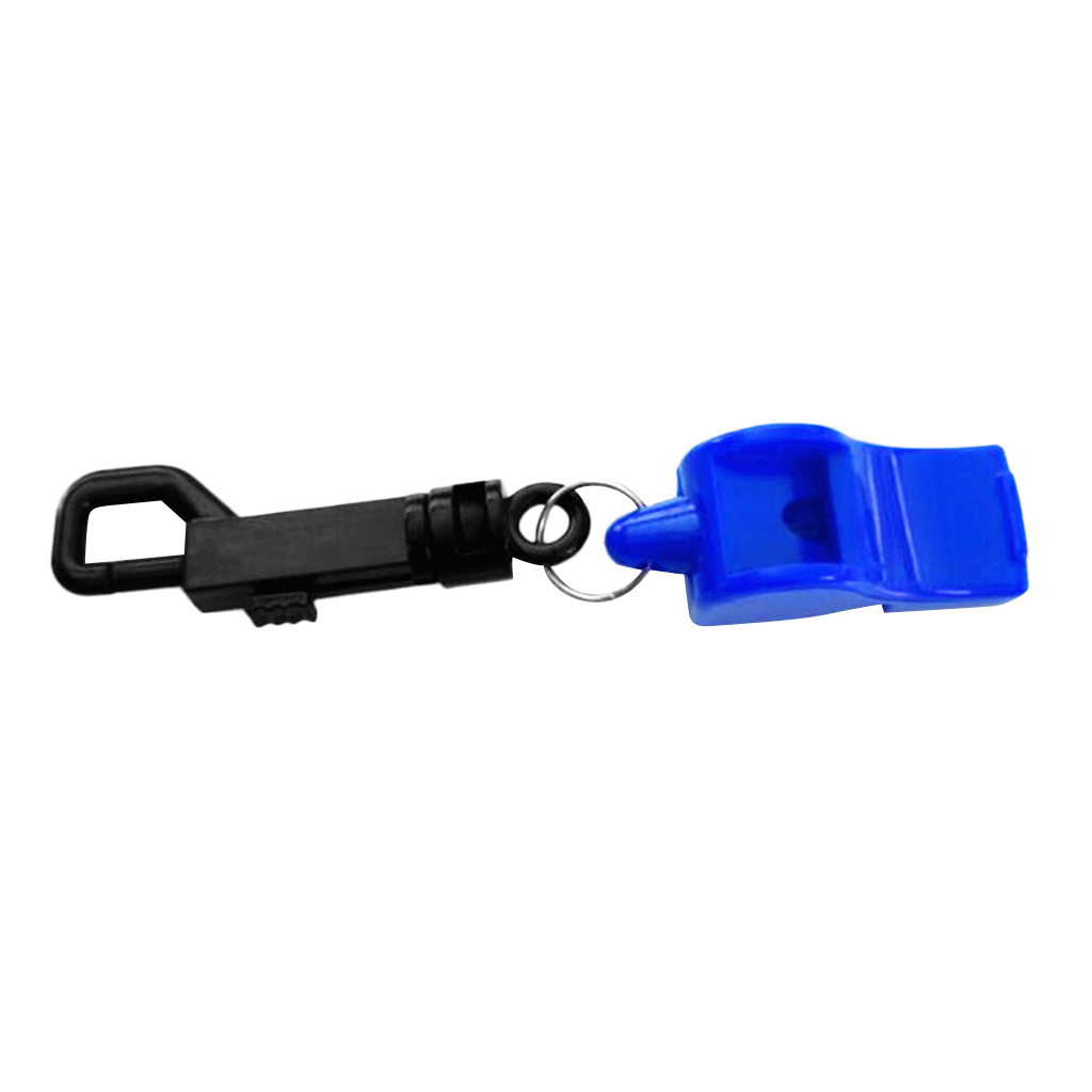 Safety Whistle with Snap Clip for Boating Emergency Survival Rescue Signaling Kayaking Boating Hiking Scuba Diving