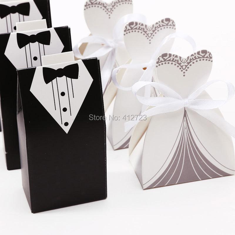 Wedding dress tuxedo candy paper box party favor gift for Box for wedding dress