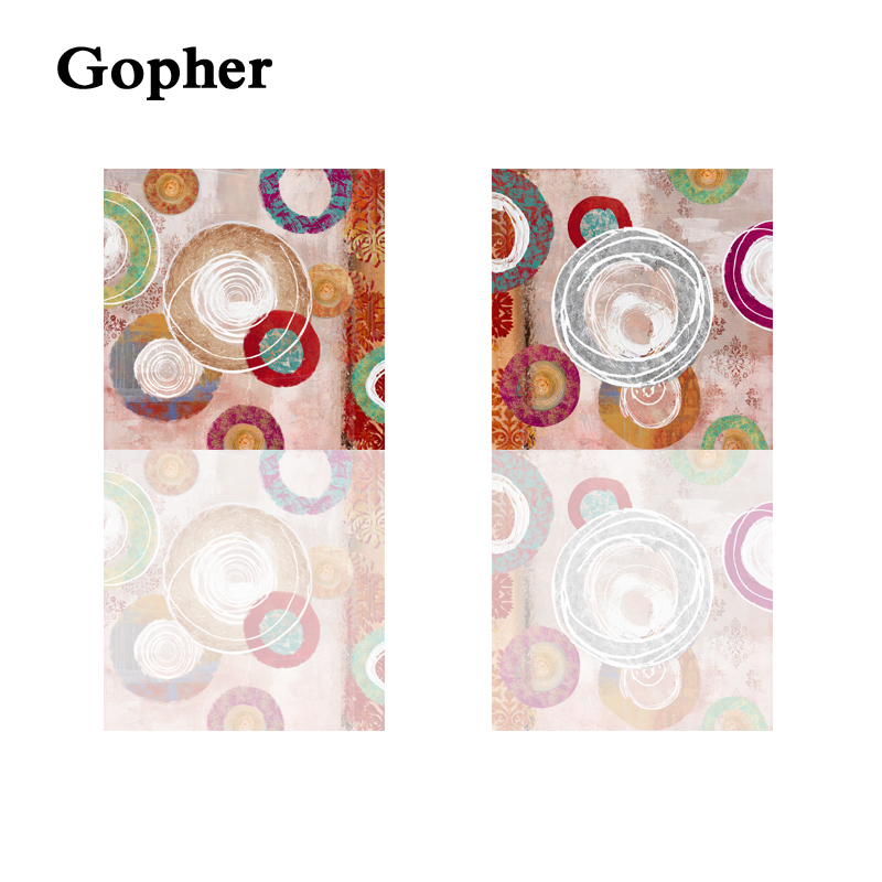 2panels Circle Picture Home decoration wall art canvas painting wall pictures for home Abstract picture GF73002(China (Mainland))