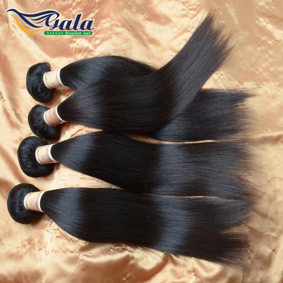 Brazilian Virgin Hair Straight 6A Grade Unprocessed Brazilian Virgin Hair Weave Bundles 100% Remy Virgin Human Hair Extensions(China (Mainland))