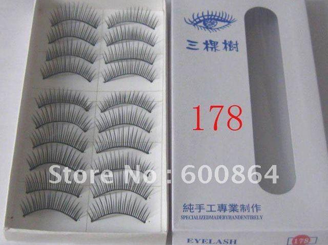 500pairs 178# Fashion Eyelashes eyelash extension False Eyelashes Fake Eyelashes artificial eyelash Hand made Eye lash