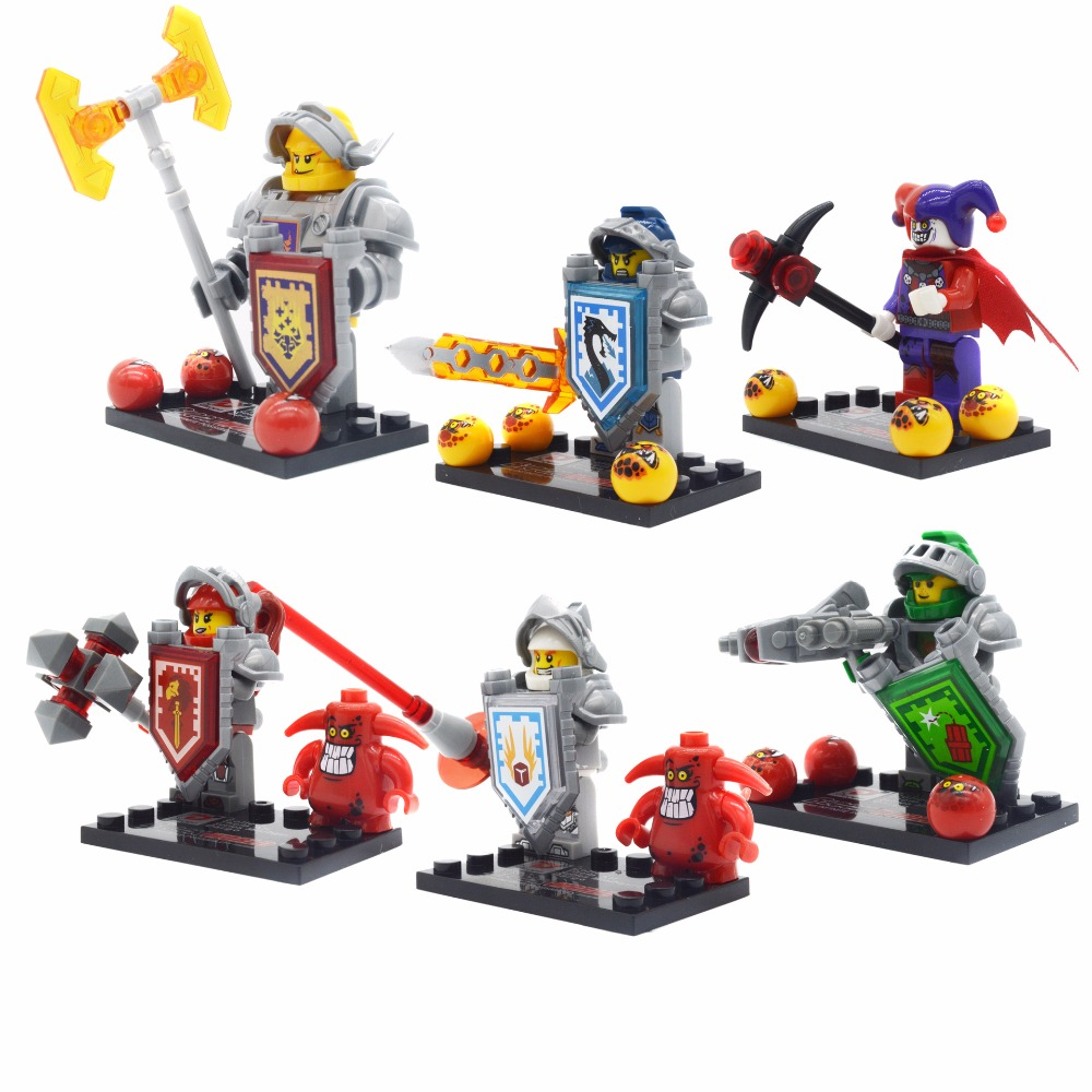 NEXO Knights Jestro Castle Warrior Scurrier Axl CLAY Lance Compatible legoe Minifigures Fortrex Weapon block toy  -  Easter Toys Store store