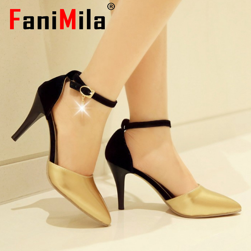 women ankle strap stiletto pointed toe high heel sandals sexy fashion ladies heeled footwear heels shoes size 31-43 P17438
