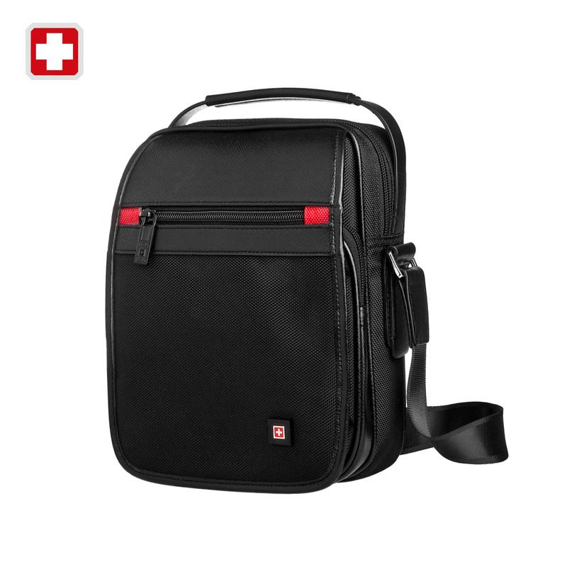 Swisswin messenger Shoulder Bag 11' black bag for Ipad handy crossbody bag for students casual oxford messenger satchel swe9030(China (Mainland))