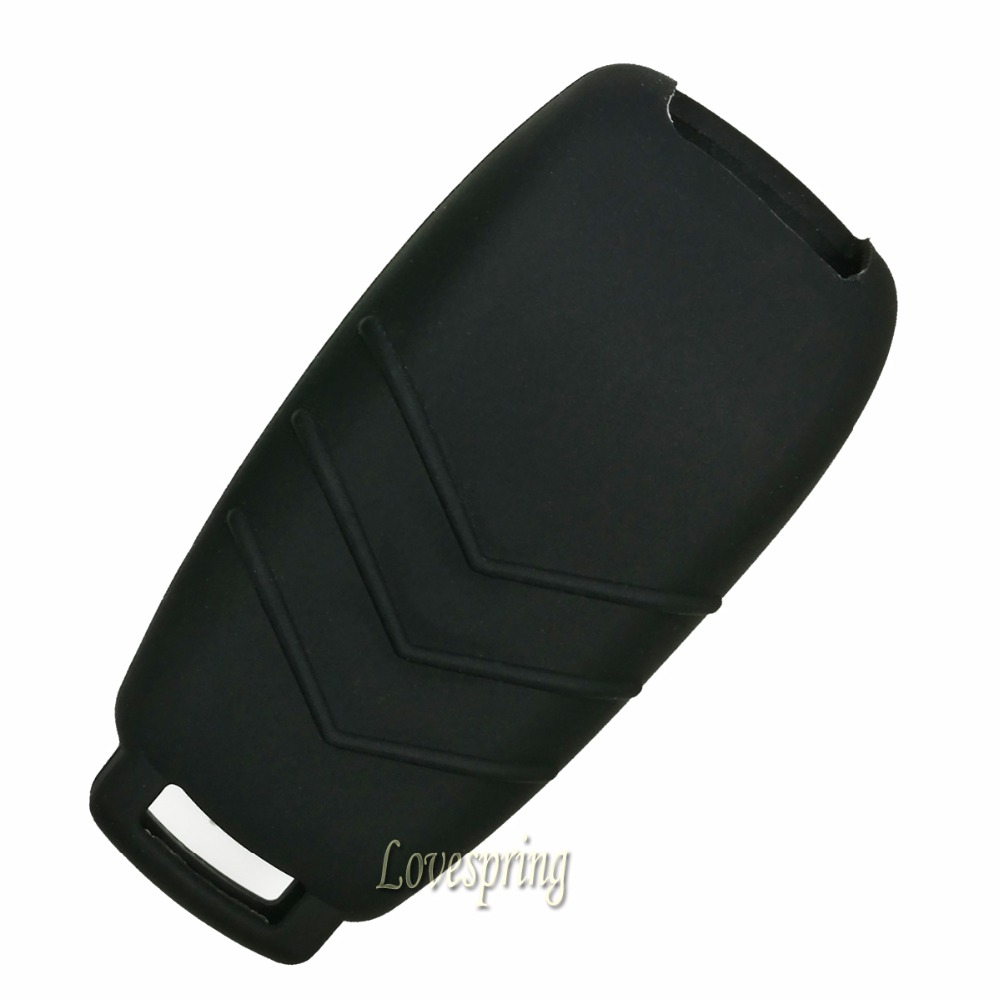3 Buttons Rubber Key Fob Case Cover Bag Keyless Entry