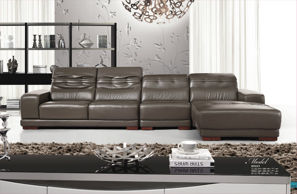 2015 modern sofa set ikea sofa leather sofa set living room furniture h9053 in living room sofas - Modern living room furniture set ...