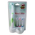 Rotação Anti Deslizamento À Prova D' Água escova de Dentes Elétrica com 2 Cabeças de Escova de Escova De Dentes Oral Higiene Dental Care 4 Cores