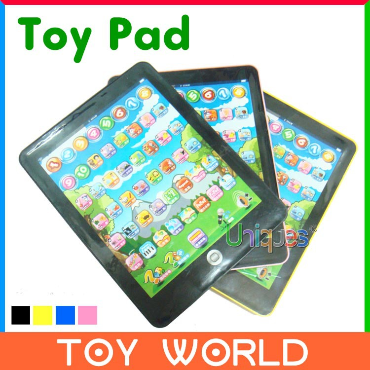 Toy Pad Children Computer Tablet Laptop Y Pad Educational Toy Electronic Notebook Reading Machine Game Music Phone(China (Mainland))