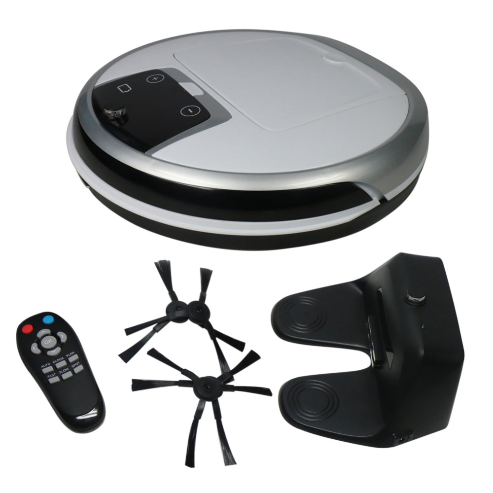 Smart Robot Vacuum Cleaner Household Remote Control Automatic Charging Robot Sweeper HEPA Filters LED Display(China (Mainland))