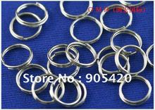 OMH wholesale 7mm 800pcs Jewelry accessories Finding DIY circle Nickel plating Plated Open Metal split Rings DY47(China (Mainland))