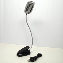 Free Shipping Popular Book Reading Stand Light For Laptop  Clip Fixtures 28 LED W9VqVw(China (Mainland))