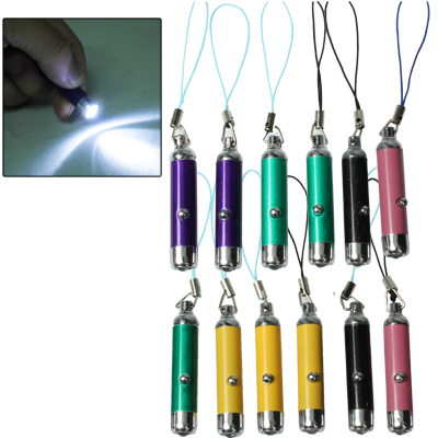 Mini LED Mobile Phone Chain (12pcs in One Packaging, The Price is for 12pcs)(China (Mainland))