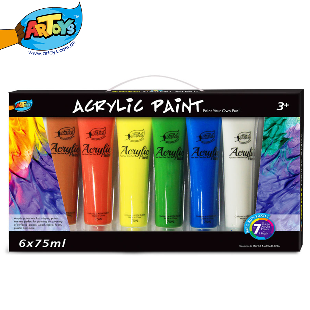 Buy artoys6 acrylic paint high quality 100 safe non toxic children 39 s diy - High quality exterior paint set ...