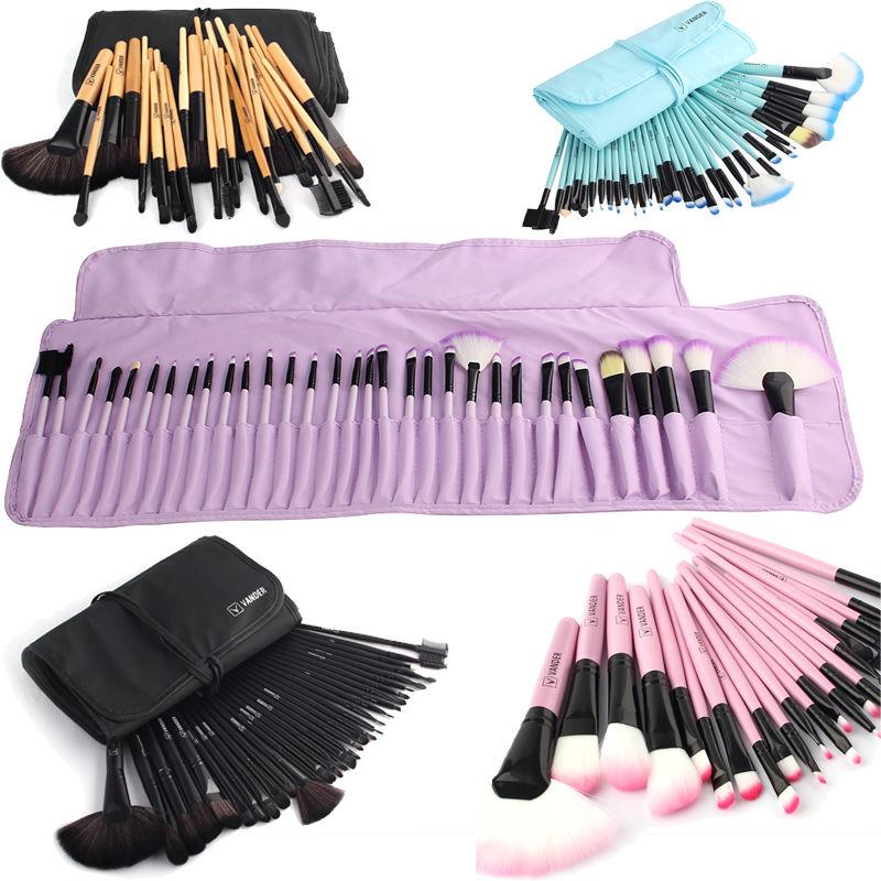 buy vander soft makeup brushes set 32 pcs multi color maquillage beauty brushes. Black Bedroom Furniture Sets. Home Design Ideas