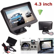New Arrival High Quality 4.3 TFT LCD Car Rear View Monitor + CMOS Waterproof Night Vision Reverse Camera(China (Mainland))
