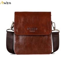 Awen - Retro 3 Size Messenger Bag Men Leather Bolsa,Lightweight Business Cover Open Male Crossbody Bags,Multifunctional Man Bags(China (Mainland))