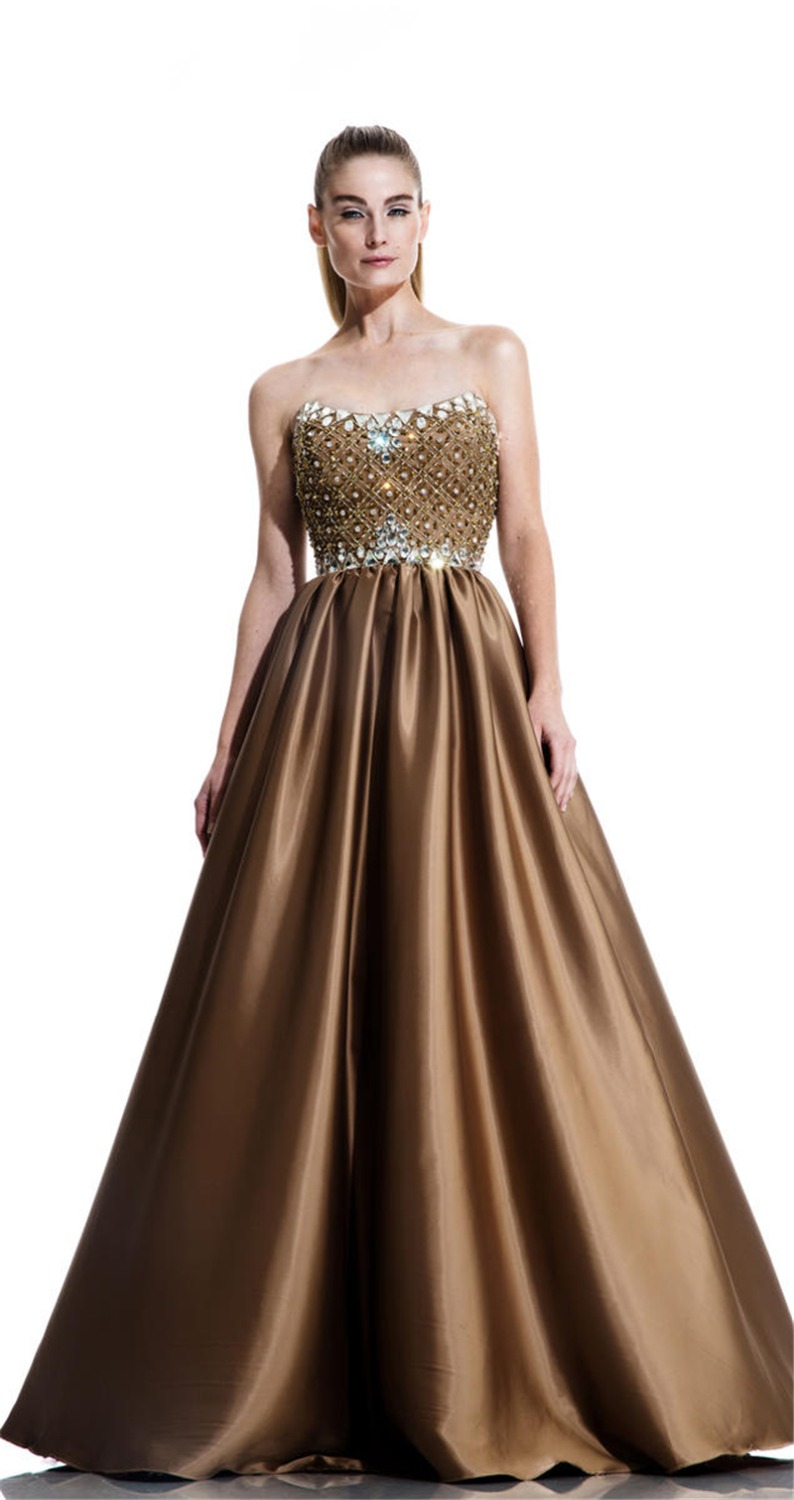 2016 Kingly Strapless Evening Prom Gowns Pretty Floor ...