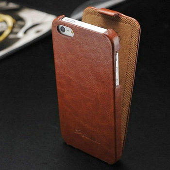 Vintage Flip PU Leather Case for iPhone 5 5S 5G Luxury Phone Bag Cover New 2015 with FASHION Logo Business Style