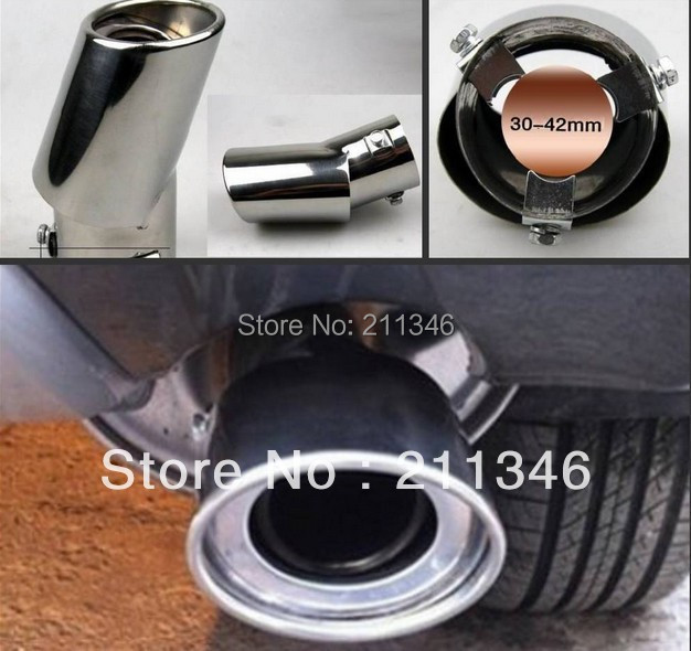 new car chrome exhaust tail muffler tip pipe 60mm outer diameter 30 40mm. Black Bedroom Furniture Sets. Home Design Ideas