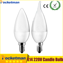 Buy E14 6W LED Candle Bulb E14 2835 SMD Led Candle Light Bulb Lamp Warm Cool White Home Interior Decoration for $1.20 in AliExpress store