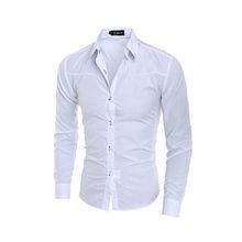 ファッション男性の高級カジュアルシャツスリムフィットドレスシャツ長袖ボタン F05(China)