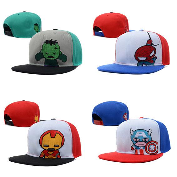 2014 new brand fashion cartoon adjustable baseball snapback hats caps men/women sports hip pop mens cap ironman/thor - Cheap Baby Store store