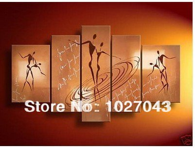 100% Handpainted Large Amazing Wall Decor Sex Dance Oil Painting Brown Canvas Art Picture P0564(China (Mainland))