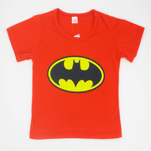 2015 Children T Shirt Batman Cotton Short Sleeve T Shirts For Boys Cartoon Print Boys Tee