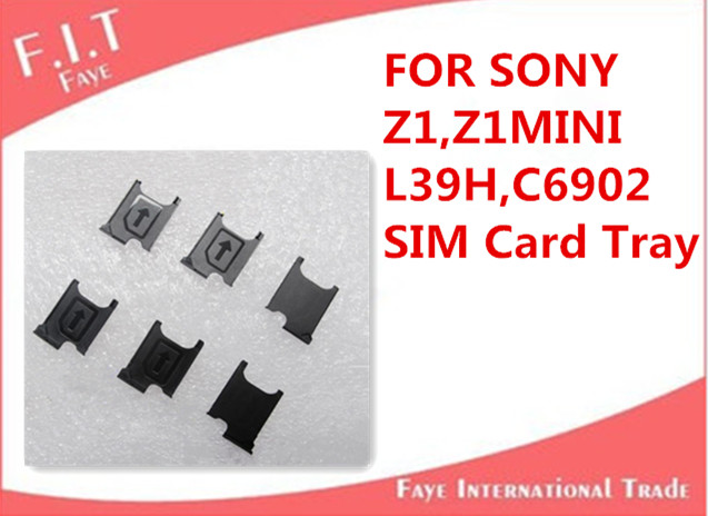 200pcs/lot Replacement SIM Card Tray Reader Adapter Holder for Sony Xperia Z1 L39h Z1mini C6902 C6903 L39T L39U Free Shipping(China (Mainland))