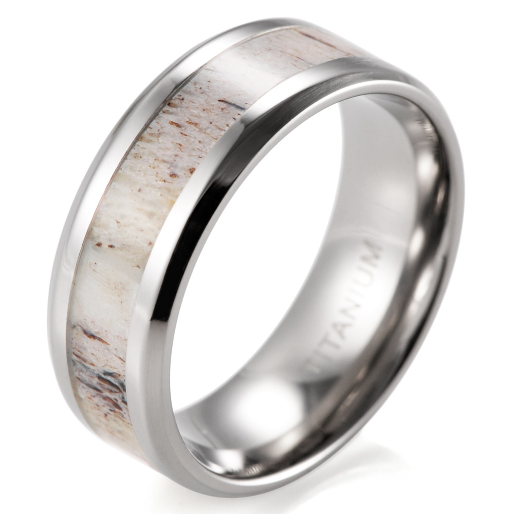 Mens Outdoors Bands: Aliexpress.com : Buy SHARDON Beveled 8mm Mens Wild Antler