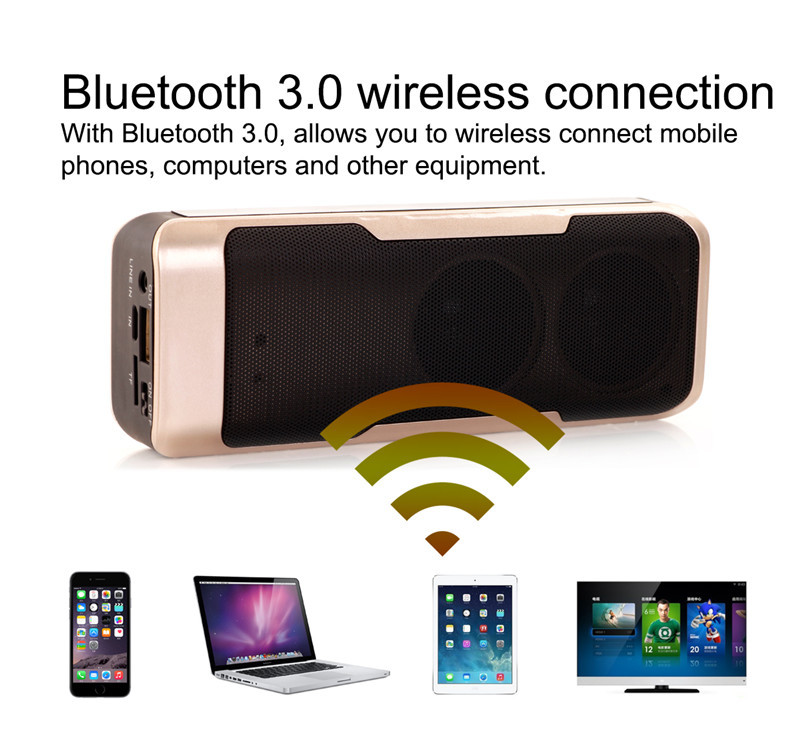 Touched Bluetooth Speaker Power Bank 4000mah Portable Mini Computer Wireless Speaker Speaker for Home Theatre and Mobile Phone