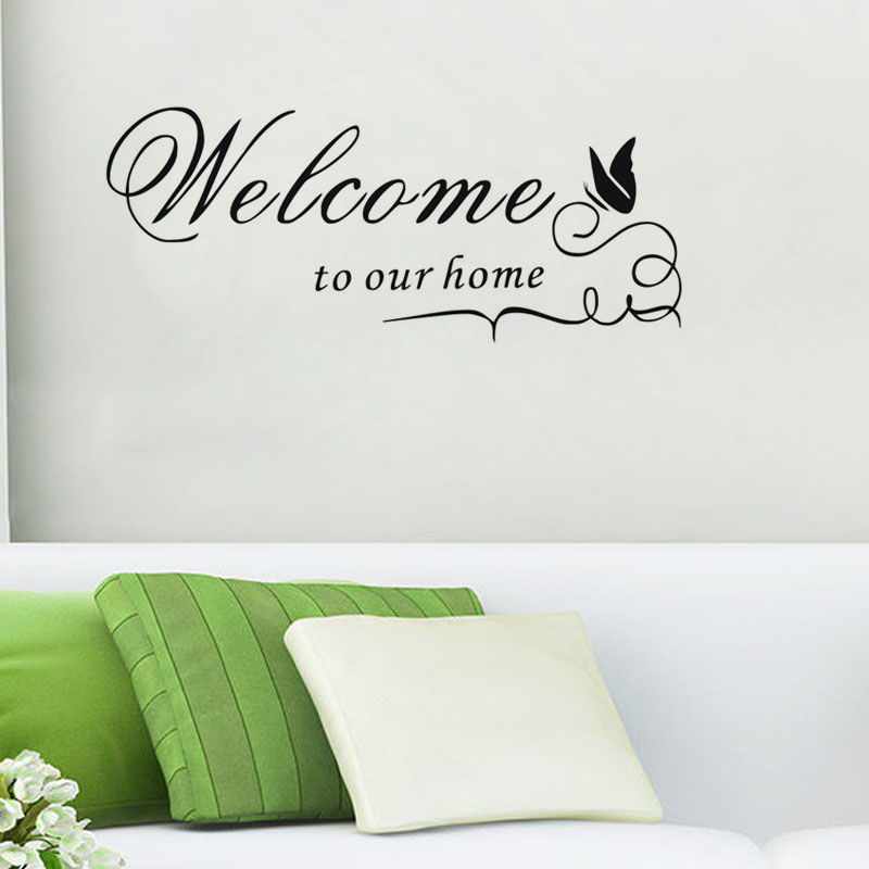 Welcome To Our Home: CaCar DIY Wall Decals WELCOME TO OUR HOME Quote Wall Decal