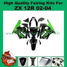 Buy Free screws+gifts Fairing kit KAWASAKI Ninja ZX12R 02 03 04 05 ZX 12R 2002 2004 2005 Green Flame Black Fairings set for $376.20 in AliExpress store