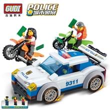 ГУДИ Городской Полиции Серии Строительные Блоки Полицейской Погони Блоки Собранные Игрушки Полицейские Русских Черепки Детские Игрушки Подарок