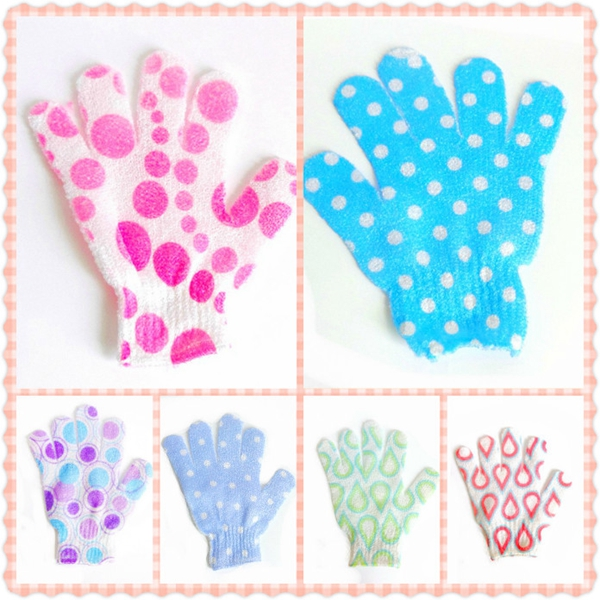 Sponge Bath Glove Bath Accessories Sisal Fiber Bath Glove Multicolor Wisp Nylon Mesh Bath Shower Exfoliating Gloves