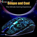 Good sale Professional Mouse Colorful Backlight 4000DPI Optical Wired Gaming Mouse Mice Optical USB 2 0