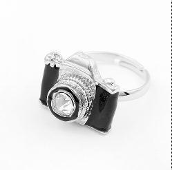New Fashion Korea personality hot sale Cute simple camera ring wholesale vintage women Wedding rings jewelry 2014 for women PT32