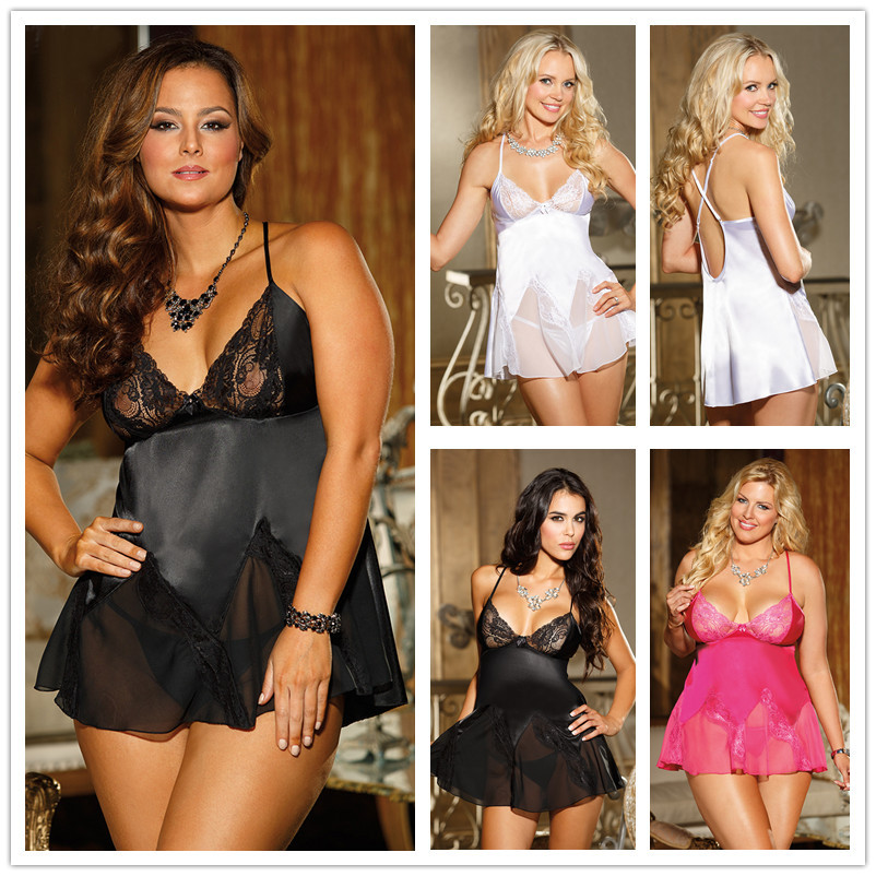 Free Drop shipping erotica women's lingerie hot sexy nightwear many colors for choose sexy underwear women plus size babydoll