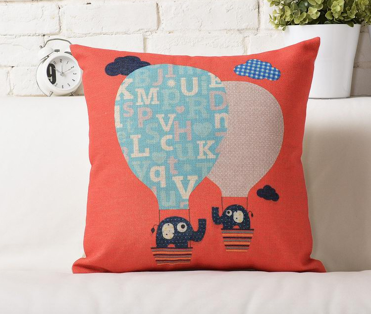 Red Two elephant balloon trip pop style bedding pillow massager decorative travel pillows home decor home popular culture(China (Mainland))