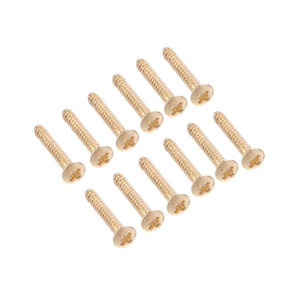 12pcs/set Gold Screws for Electric Guitar Single Coil Pickup Screws 3mm Guitar Parts & Accessories(China (Mainland))